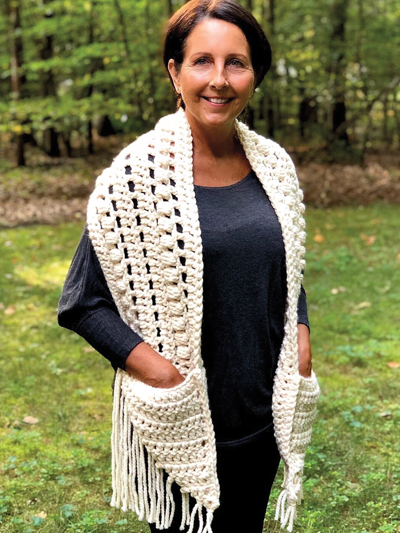Thick & Quick Pocket Scarf Crochet Pattern - Electronic Download