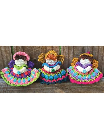 Mini Angel Ornament Crochet Pattern - Electronic Download
