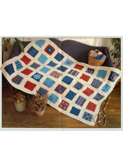 40 Stitches Sampler Afghan Crochet Pattern - Electronic Download