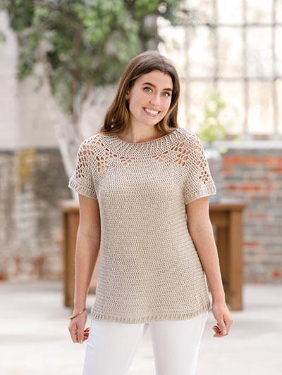 ANNIE'S SIGNATURE DESIGNS: Saharan Dust Crochet Tee Pattern