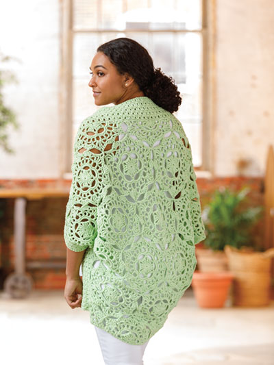ANNIE'S SIGNATURE DESIGNS: Sunday Morning Crochet Cardi Pattern