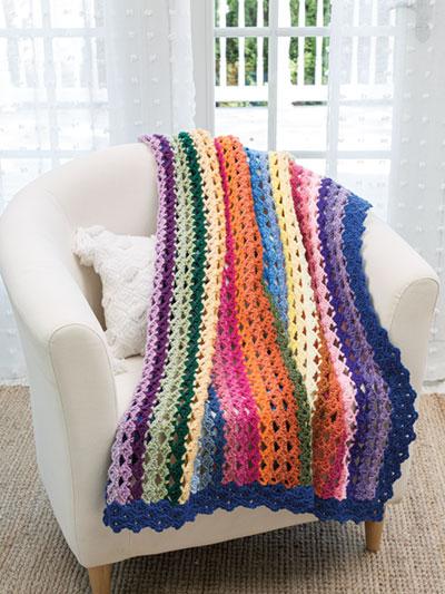 Cascading Shells Throw Crochet Pattern
