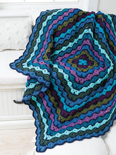 Scrappy Shells Throw Crochet Pattern