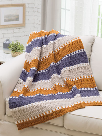 For the Love of Texture Afghan Crochet Pattern - Electronic Download