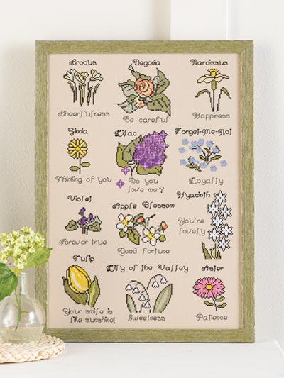 The Language of Flowers Pattern - Electronic Download