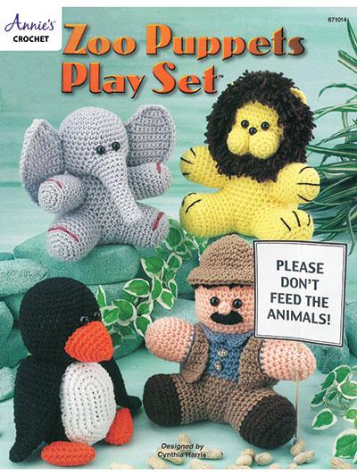 Zoo Puppets Play Set Crochet Pattern
