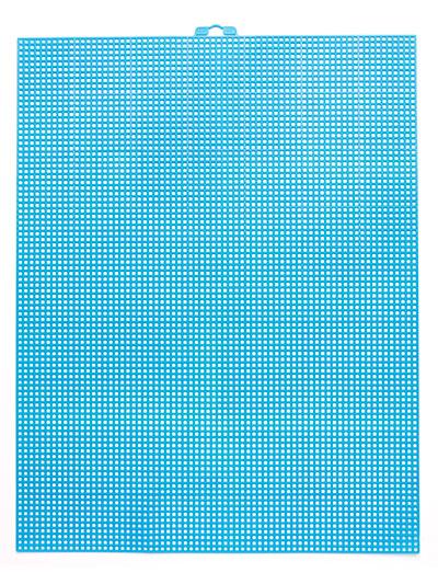 7-Mesh Plastic Canvas Sheet - Bright Blue