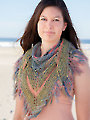 ANNIE'S SIGNATURE DESIGNS: Painted Sky Shawl Knit Pattern