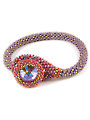 Danielle Ruby Bead Crochet Bracelet Kit