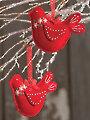 Winter Birds Ornament Pattern