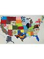 USA Patchwork Map Quilt Pattern