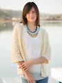 ANNIE'S SIGNATURE DESIGNS: Seashell Cardi & Necklace Crochet Pattern