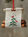 Christmas Log Carrier Ornament Cross Stitch Pattern