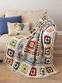 ANNIE'S SIGNATURE DESIGNS: Farmhouse Granny Afghan & Pillow Crochet Pattern