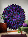 Cathedral Rose Window Afghan Crochet Pattern