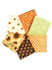 Sunflower Fat Quarters-6/pkg.