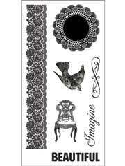 "Fiskars� 4""x8"" Simple Stick Stamps Doily Banner"