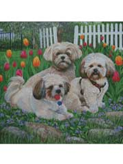 Tip Toe Thru the Tulips Cross Stitch Pattern