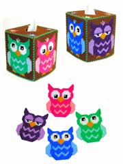 Bright Eyes Owl Decor Set
