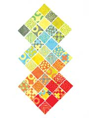 "Simple Marks Summer 2 1/2"" Squares-42/pkg."