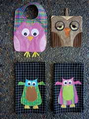 Give A Hoot Applique Sewing Pattern