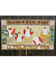 All In A Day's Work Wall Hanging Sewing Pattern