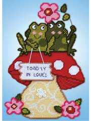 Toadly in Love Plastic Canvas Kit