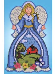 Countryside Angel Plastic Canvas Kit
