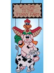 Funny Farm Plastic Canvas Kit