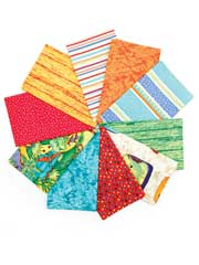Dino Raurs Fat Quarters-10/pkg.