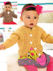 Sirdar Tiny Snuggly Textures Cardigan 1309 Knit Pattern