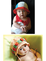 Two Crochet Sunhats