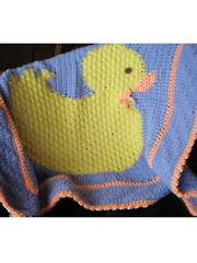 Little Duckie Crochet Blanket