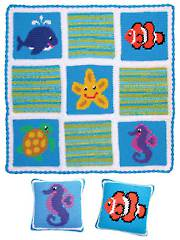 Beach Baby Blankie Set