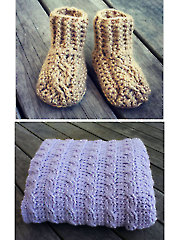 Couture Cables Baby Blanket & Booties