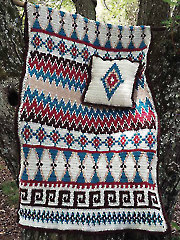 Aztec Afghan & Pillow