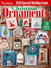Just CrossStitch Christmas Ornaments 2016