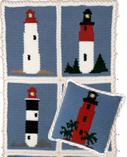 Lighthouse Afghan & Pillow