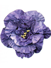 Chenille Flower Brooch Kits - Purple Flower