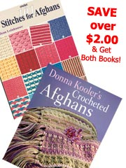101 Stitches/Donna Kooler Afghans Combo