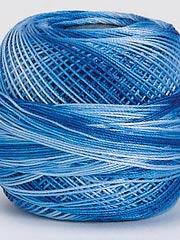 Tatting Thread - Blue Variegated