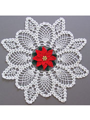 Poinsettia Pineapple Doily Kit