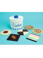 Plastic Canvas Cookie Jar Coaster Pattern Set