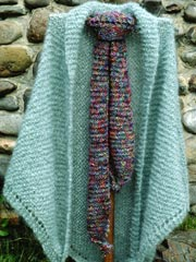 English Garden Shawl & Scarf Knit Pattern