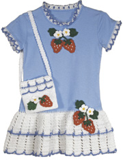 Strawberry T-Shirt Dress & Purse Pattern
