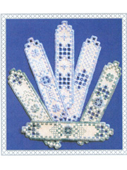Hardanger Bookmarks in Bloom Pattern