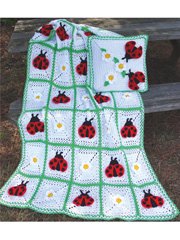 Lady Bug Blanket & Pillow Pattern Pack