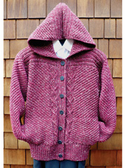Diagonals & Diamonds Hoody Knit Pattern