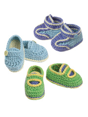 Gourmet Crochet Julian Blaise Collection Baby Boy Shoes