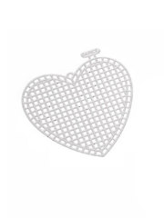 Plastic Canvas Heart Shape - 3 inches